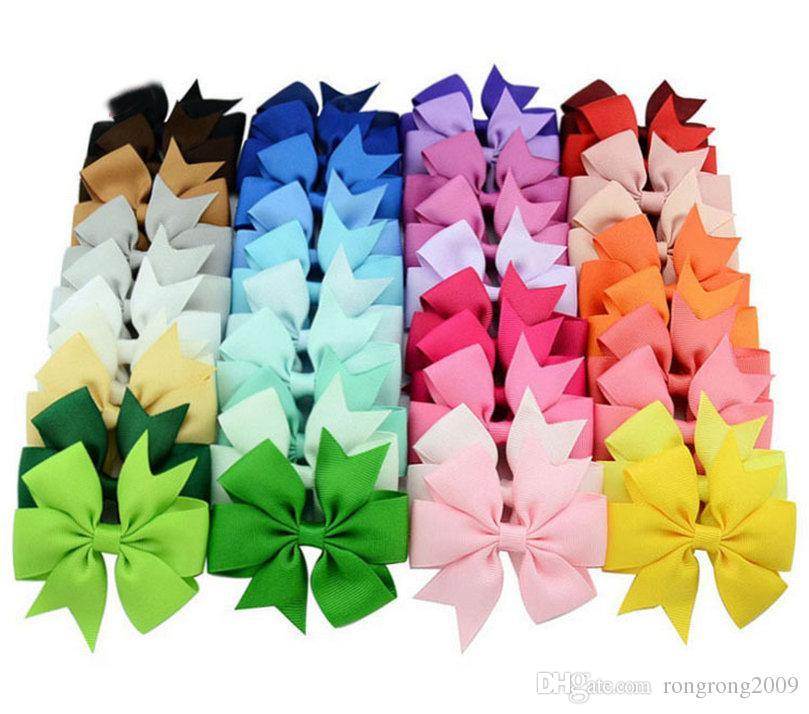 Baby Girls Hair Clip Mermaid Bow Ribbon Hairpin Children Hair Accessories Photography props E564