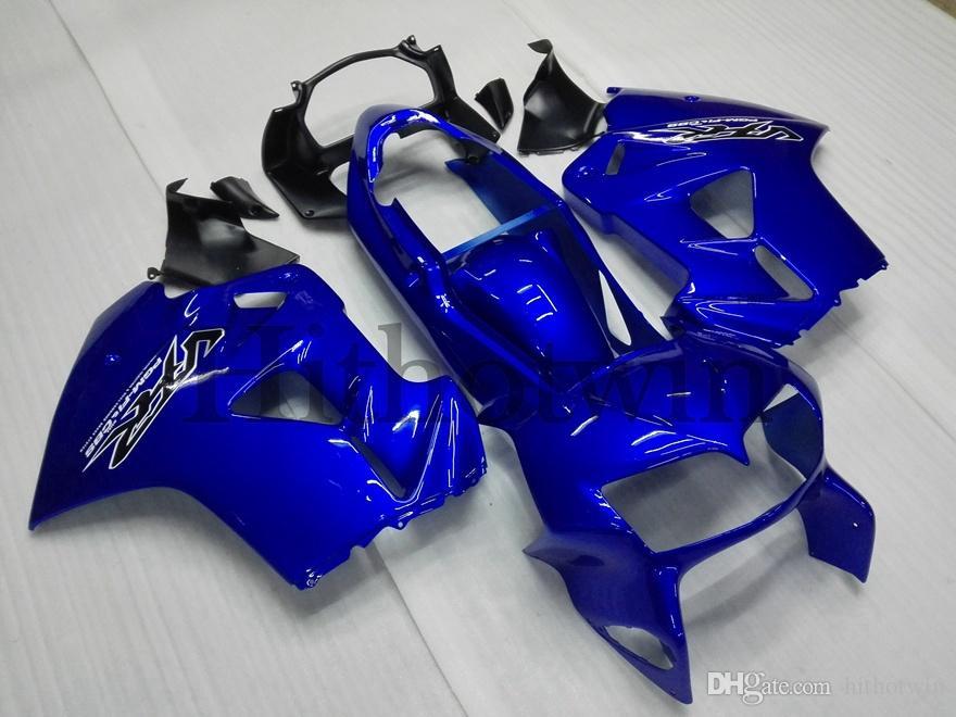 Botls Carénage ABS pour honda VFR800 1998 1999 2000 2001 rouge noir Kit carrosserie