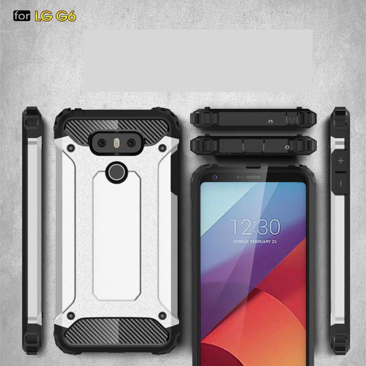 armorハイブリッドディフェンダーケースTPU + PC耐衝撃カバーケースLG G6 G5 Q6 Galaxy S7エッジS7プラスS6エッジプラス