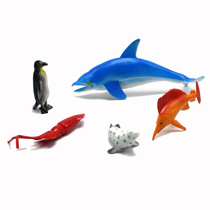 PVC Simulation marine organism Model Of Dolphins octopus sea turtles crab seal lobster starfish Model Toys fish for kids gift