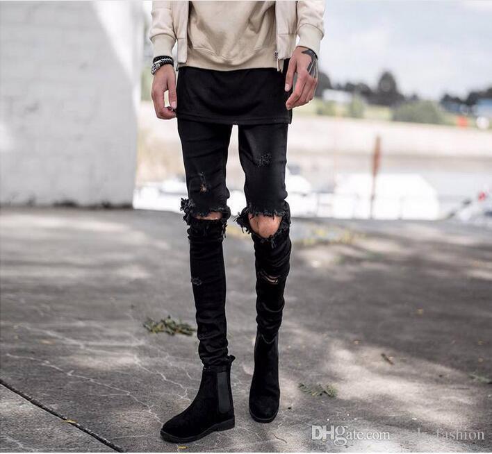 2018 Brand Designer Ripped Jeans For Men High Quality Hip Hop Cool Jeans For Men Hot Korean ...