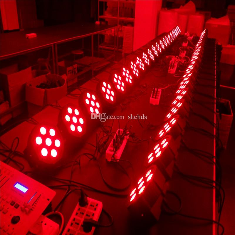 American DJ Flat SlimPar Quad 7 RGBW Color Mixing LED Flat Par 7x12W RGBW Lighting Fast Shipping Party lights
