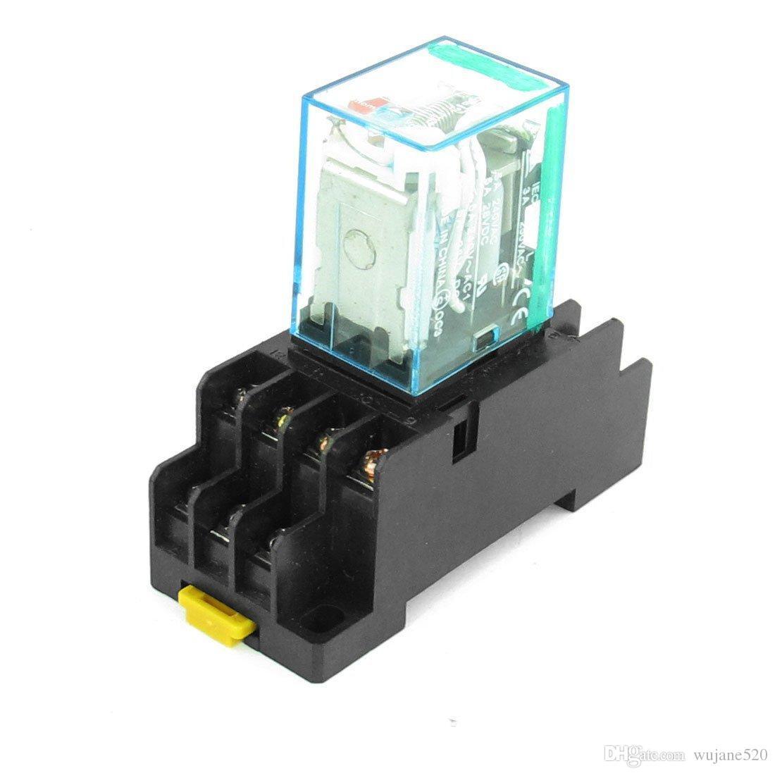 12 فولت dc / 24 فولت dc لفائف 4PDT المكونات في مصغرة السلطة التقوية MY4NJ HH54P-L 14 دبابيس ث DYF14A قاعدة المقبس