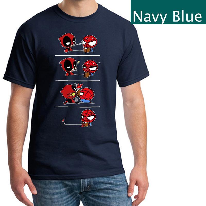Grosshandel Lustiges T Shirt Von Spider Man Und Deadpool Lustiges