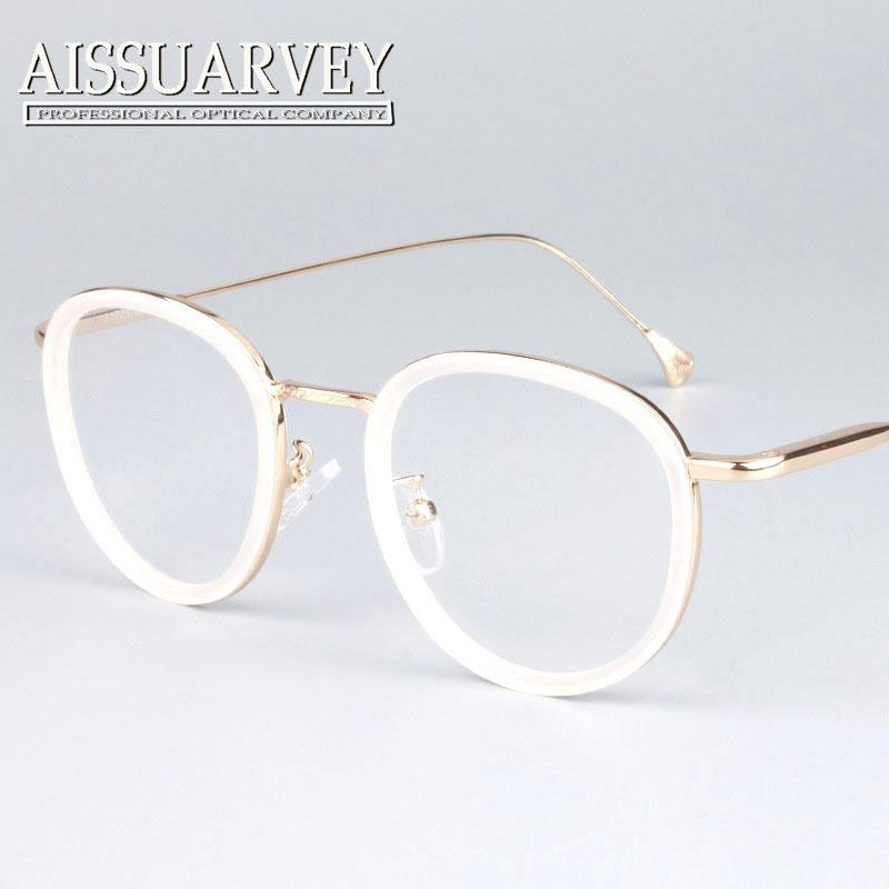 2018 Wholesale Round Metal Frame Glasses Pink Women Fashion Brand ...