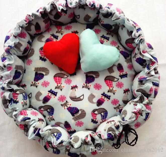 O envio gratuito de novo estilo cão de estimação filhote de cachorro gato cama casa de abóbora canil gato bonito 10 estilos de escolher + brindes coração travesseiro + brinquedo de algodão