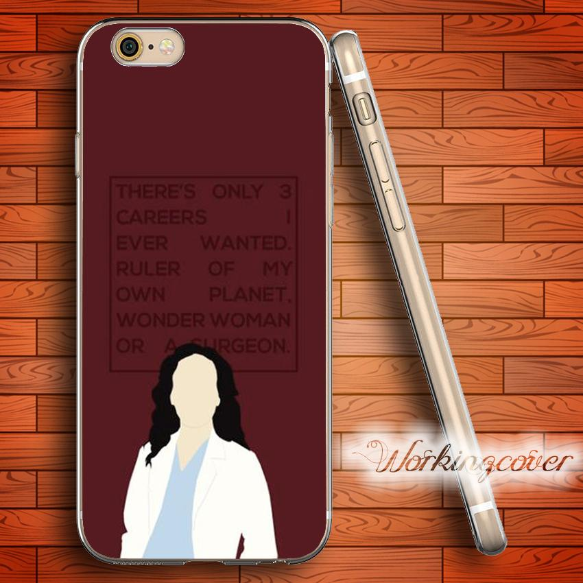 Fundas Greys Anatomy Cristina Yang Soft Clear Tpu Case For Iphone 7 ...