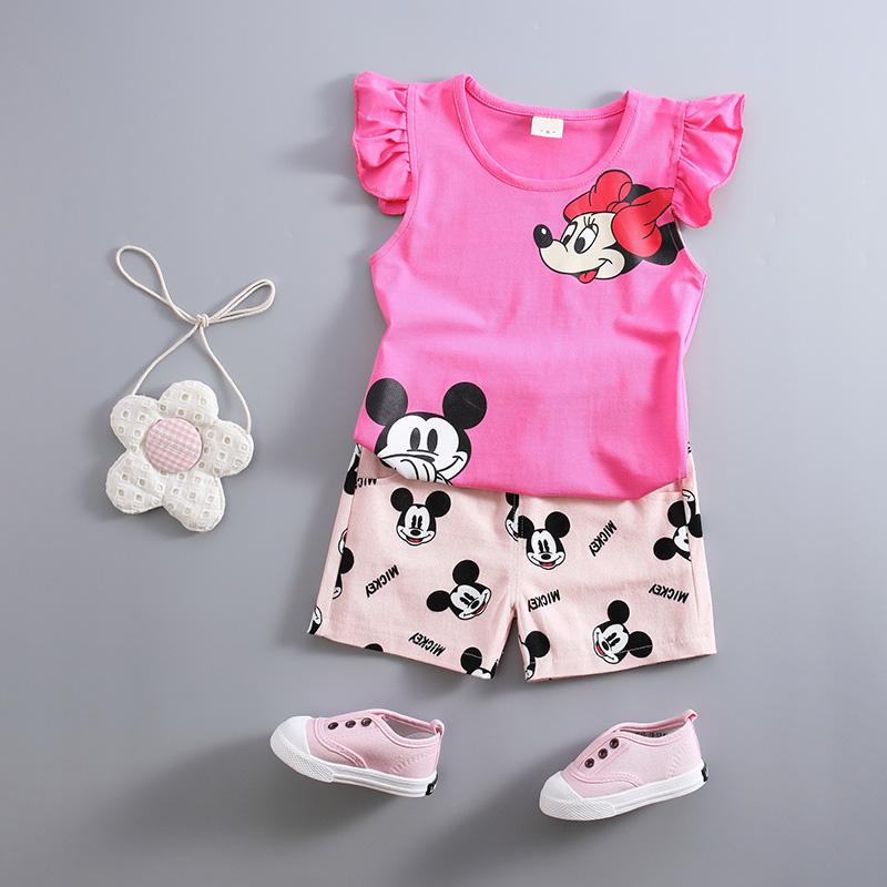2018 2017 Summer Kids Girls Set Casual Cute Baby Suit Girls Clothing