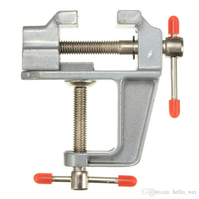 35mm Aluminum MiniAture Small Jewelers Hobby Clamp On Table Bench Vise Tool Vice Bench Vise