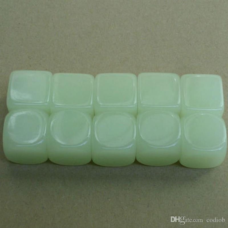 Luminous Blank Dice Square 20mm Glowing Cube Kids DIY Toy Funny Family Games Dices Accessories Good Price High Quality #B51