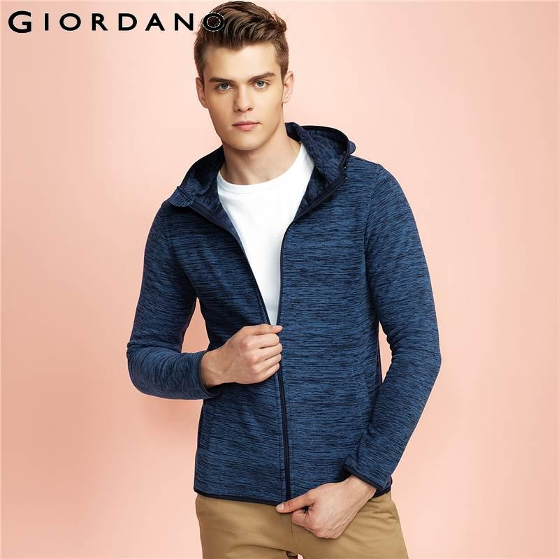 89e942e8fc4d9 Wholesale- Giordano Men Jacket Hooded Outerwear Brand Clothing Polar Fleece  Jacket Long Sleeves Jaqueta Masculina Spring Jacket Men .com Online Shopping  ...