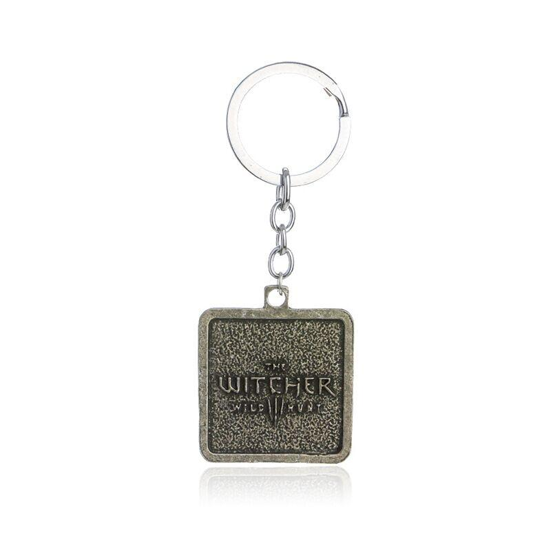 Trendy Silver Plated Alloy unisex child square card animal wolf head KeyChain lion head KeyChain wolf Key Chain Ring Pendant 2017 y036