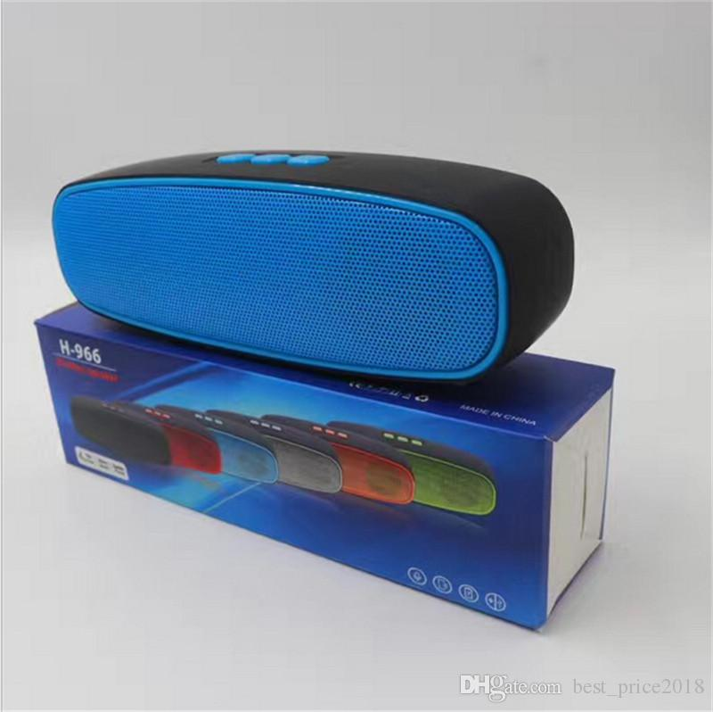 2017 Water Cube Bluetooth Speaker H-966 Outdoor Audio Mini Sound Bass Subwoofer Wireless Card Radio,Good Sounds Speaker Free DHL