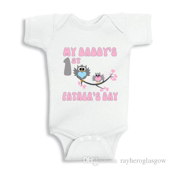 Daddys First Fathers Day Part - 42: 2017 My Daddys First Fathers Day With Owls Baby White Cotton Outfit  Boy/Girl Gift Clothes Newborn Baby New Dad/Mom From Rayheroglasgow, $17.18  | Dhgate.Com