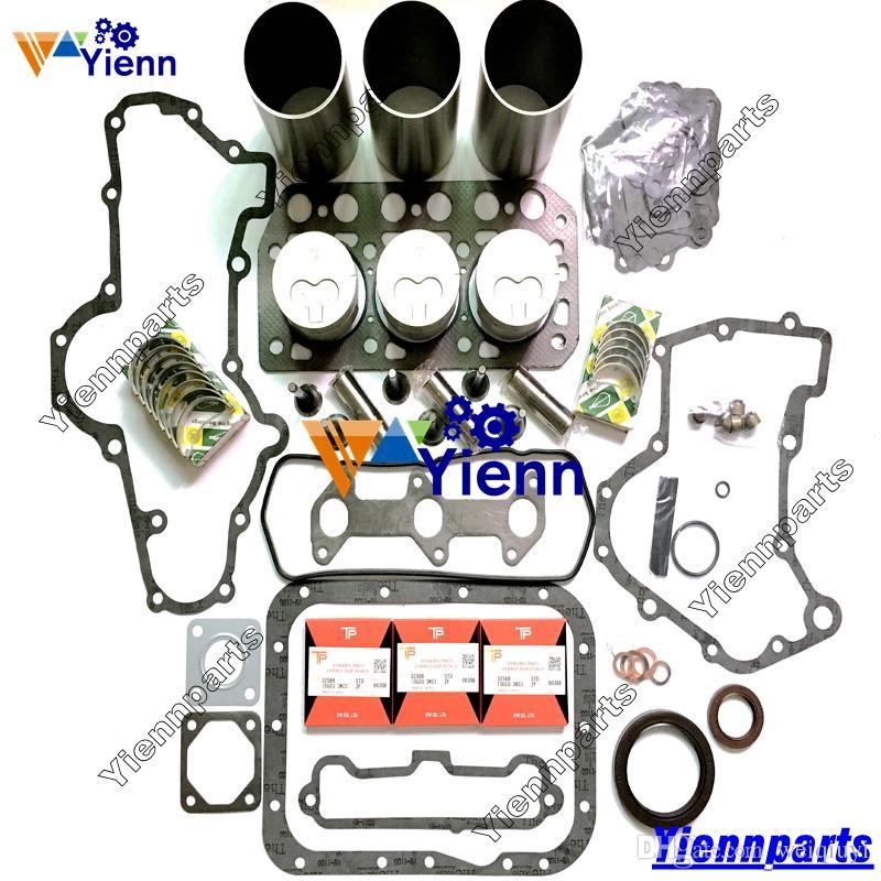 Mitsubishi K3E Revision Kit di revisione Piston Ring Liner Guarnizione Set cuscinetti CASE-IH S245 S255 Trattore Mitsubishi K3E Engine