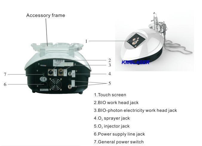 Neue Wasser Sauerstoff Jet Sauerstoff Jet Spray Bio-Photon BIO Strom LED Licht Photon Hautverjüngung Gesichtspflege Akne Entfernung Maschine