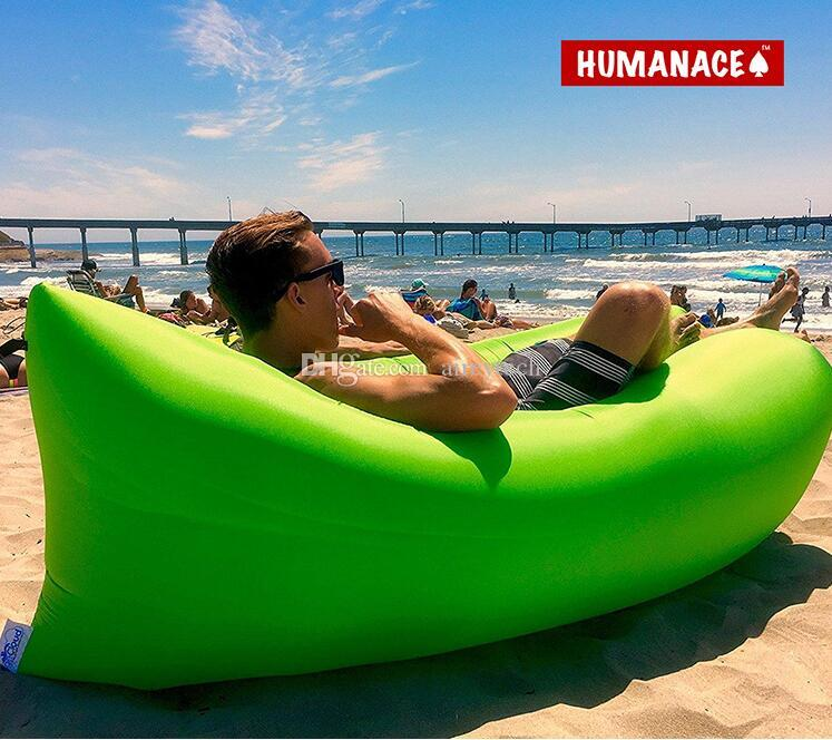 Humanace Air Sofa Lazy Portable Air Cushion Romo Outdoor Gear Adult  Inflatable Beanbag Sofa Chair Living Room Bean Bag Cushion Seaside Bed  Camping Furniture ...