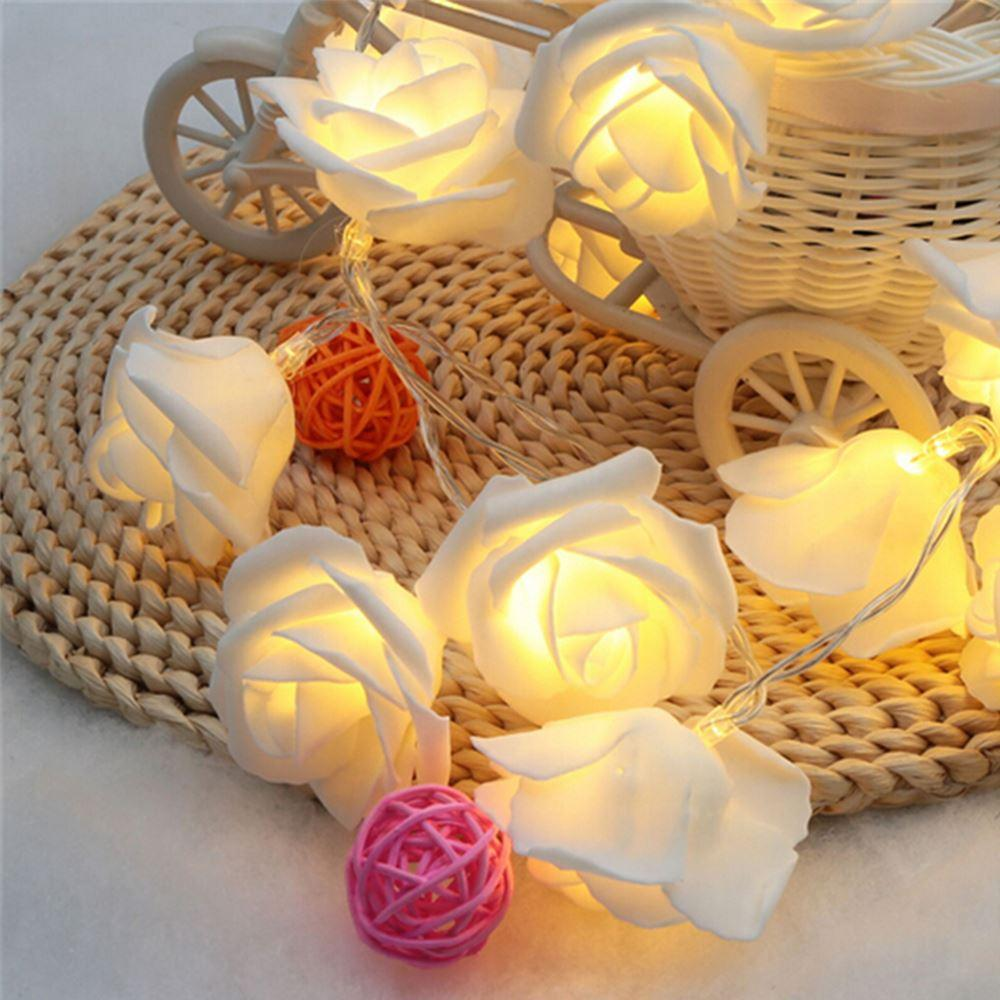 2018 22m 20led rose flower led christmas lights newyear wedding romantic christmas decoration string fairy light batteryoperated from xiongge5465