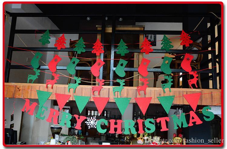 Décoration De Noël Drapeaux Drapeaux Différents Style Arbre De Noël Snow Wave Drapeau Non-tissé Tissu 8 Pièces Sac Expédition Rapide