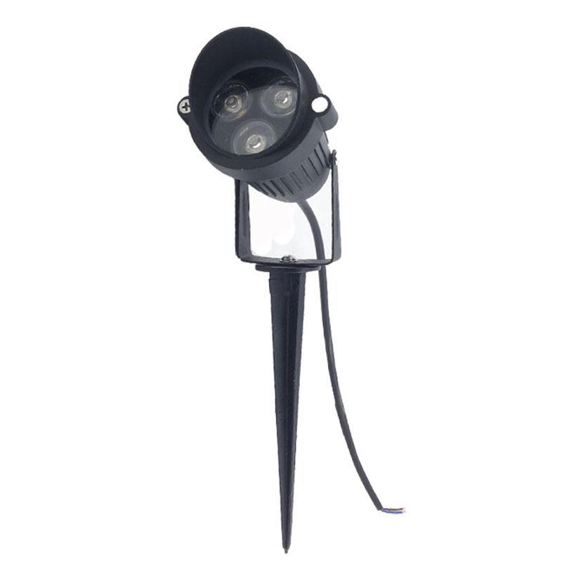 10 pçs / lote 3 W AC85-265V 12 V LED Spike jardim IP65 À Prova D 'Água Caminho do Projetor Paisagem Spot Light Segurança Gramado Luz