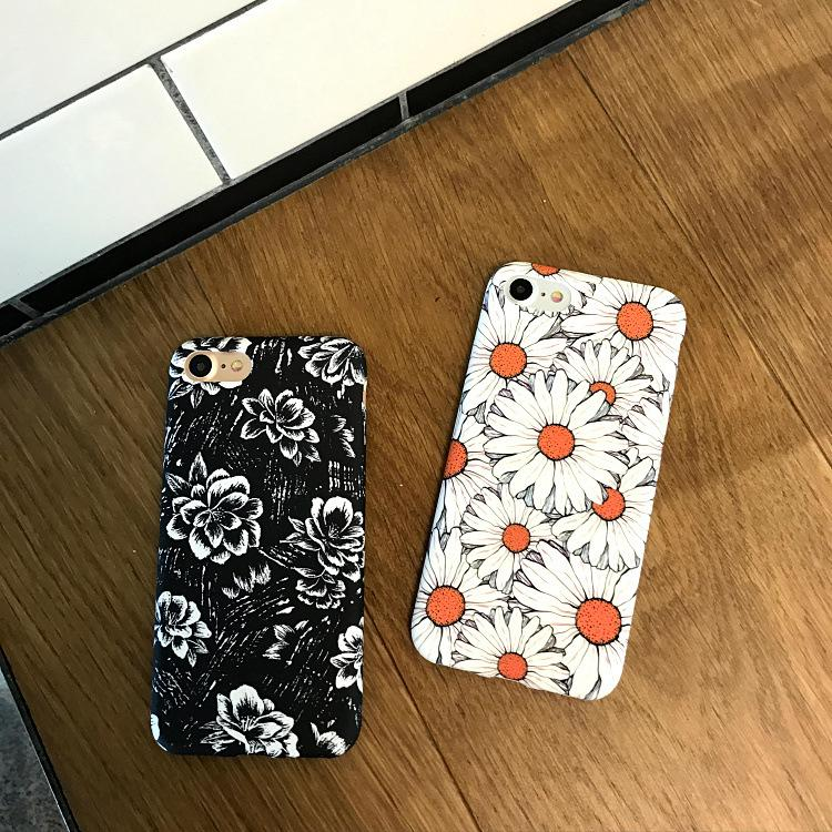 Flower Cell phone case Back Cover Case for iphone 7 7plus 6 6S 6plus 6Splus with opp package hot sale
