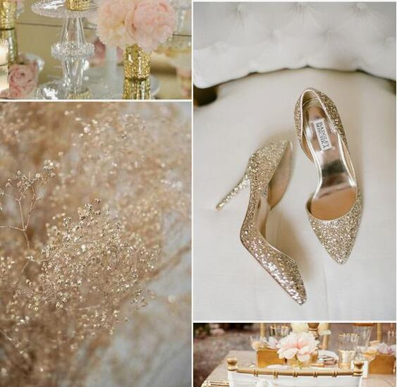 Gorgeous gold wedding shoes new fashion wedding shoes bling gorgeous gold wedding shoes new fashion wedding shoes bling sequins high heels womens shoe bridal shoes silver shoes wedding t bar wedding shoes from junglespirit Gallery