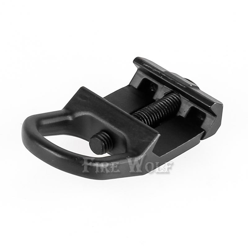 Adattatore adattatore slitta LUNA ANTINCENDIO adattatore nero Picatinny da 20mm
