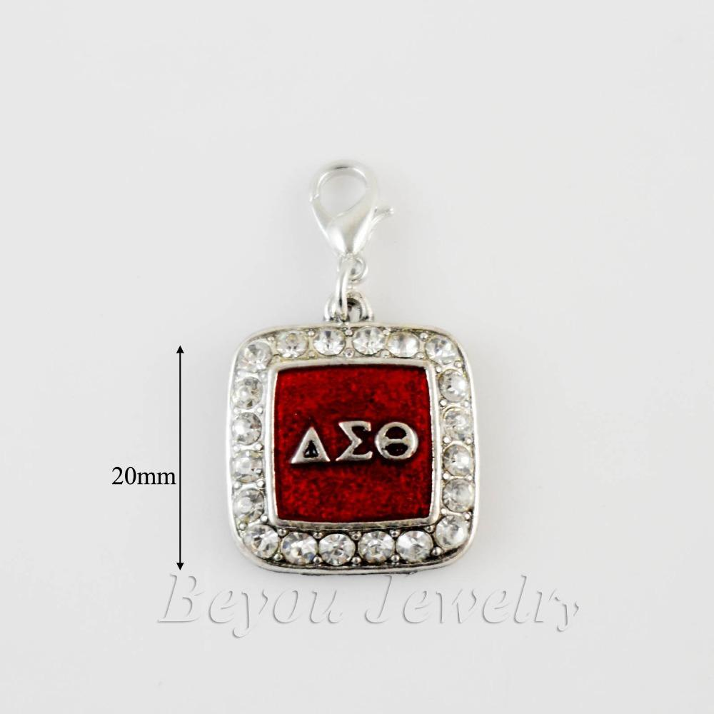 Wholesale Sorority Greek Delta Sigma Theta Dst Enamel Charm With