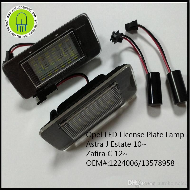 x dahosun led license lamp for opel astra estate zafira car tail rh dhgate com