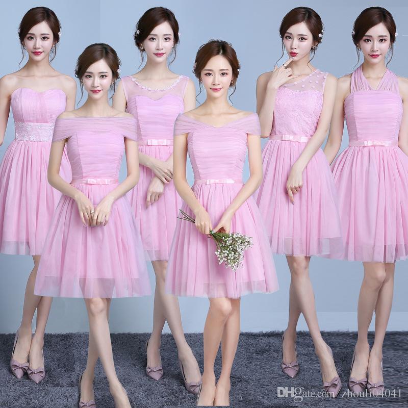 Compre Los Vestidos De La Dama De Honor Diseñan El Vestido Púrpura ...