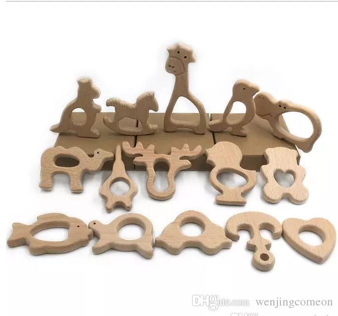 58 conceptions en bois jouets de dentition nature bébé jouet de dentition organique écologique porte-dentition en bois allaitement bébé anneau de dentition