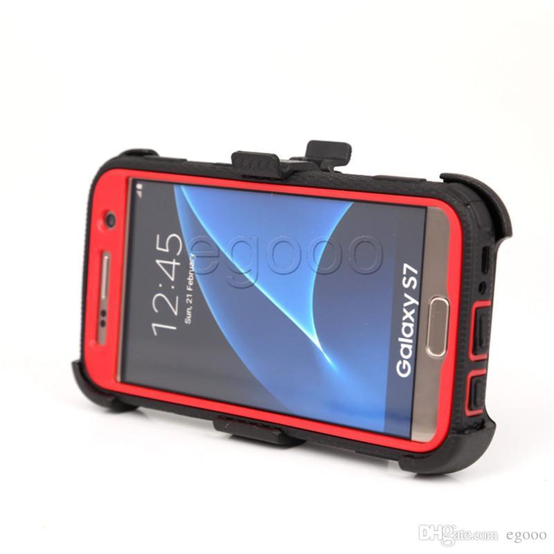Zırh Hibrid Defender Kickstand Kılıf Kemer Klipsi ve Ekran Kapağı Ile iPhone Için X XS Max Xr 8 7 6 Artı 5 Alcatel Idol4 Fierce4 TUR BLU R1 HD