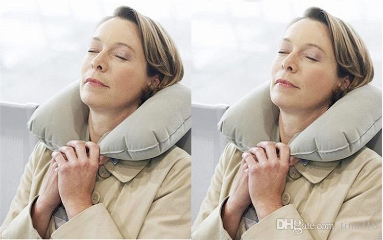 도매 공장도 가격 3in1 여행 사무실 설정 팽창식 U 모양의 목 에어 쿠션 베개+자 눈 가면 즐+1953 귀마개
