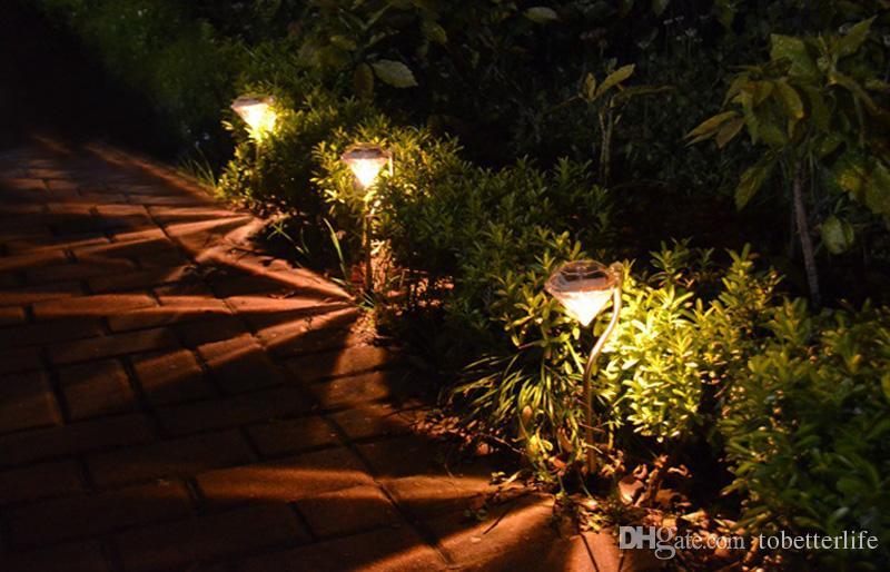Grosshandel Farbwechsel Weiss Warmweiss Led Solar Diamant Leuchtet Edelstahl Solar Rasen Lampe Licht Fur Garten Dekoration Outdoor Landschaftspfad Von