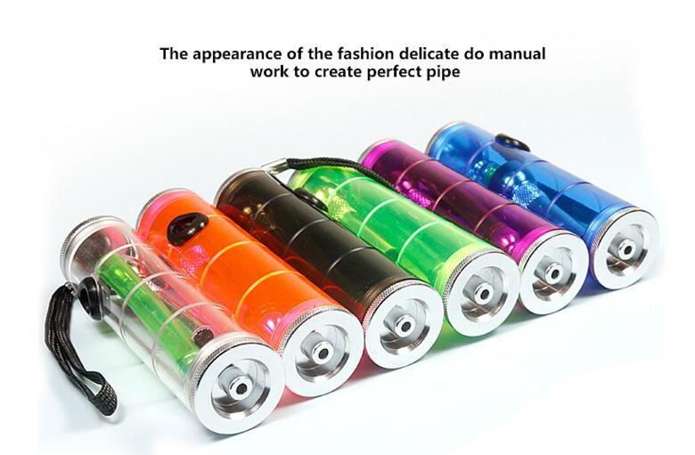 Portátiles de plástico de colores Fumar Mano de tuberías de es cachimba quemador de aceite Reggae cigarrillo pipas de agua Bongs Shisha