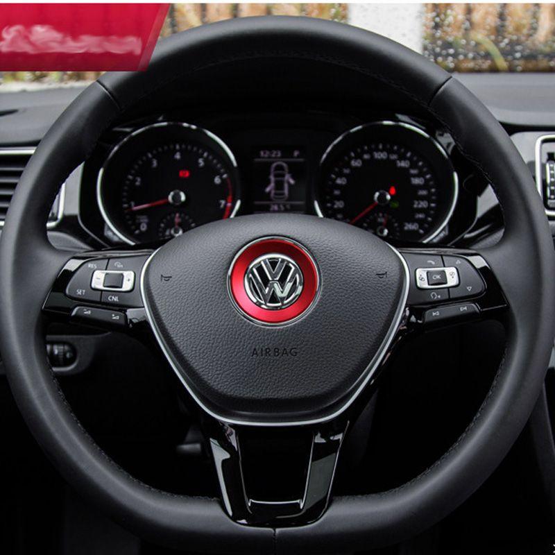 Alloy Car VW Steering Wheel Center Cover Sticker