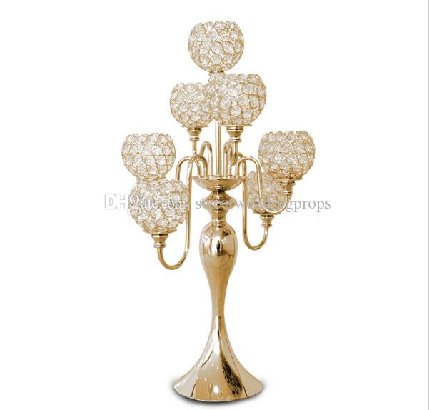 aisle stands weddings/flower pillars stands /crystal stands for weddings with glass bead