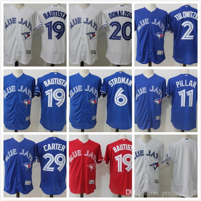 9d080b61a ... 2017 Elite Toronto Blue Jays Customized Baseball Stitched Jersey Custom  Men Women Youth 19 Kevin Pillar ...
