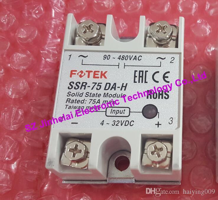 100% новый и оригинальный SSR-75DA-H FOTEK высокого напряжения SSR твердотельные реле 90-480VAC, 4-32VDC 75A