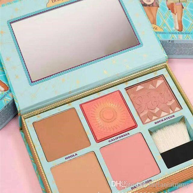 Actory Direct Sale New Arrived Cheek Parade Limited Edition Highlighter Contour Too Makeup Powder Blush Palette + Brush Faced Cosmetics Peaches And Blush ...