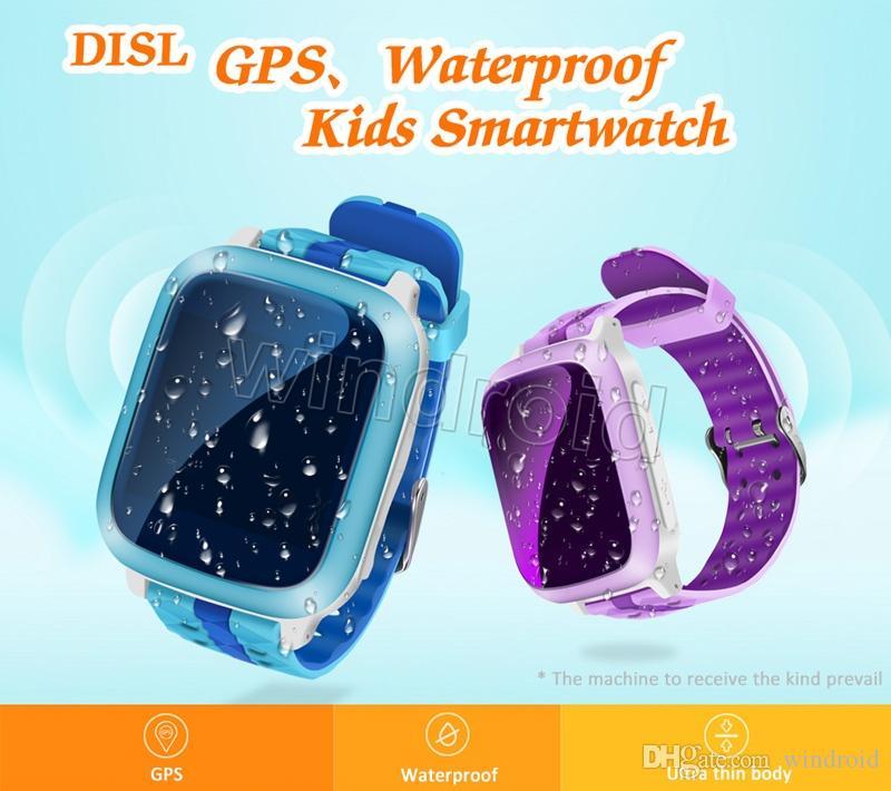DS18 Smart Phone GPS wifi Uhr Kinder Kind Armbanduhr GSM GPS WiFi Locator Tracker Anti-verlorene Smartwatch Kind Für iOS Android Baby