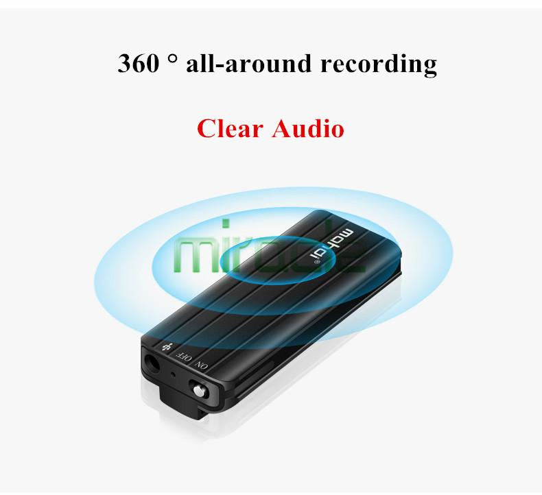 Wholesale-mahdi M17 black 8G voice recorder professional HD noise reduction  MINI voice recorder business meeting small voice control
