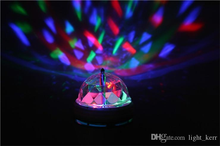 Laser Lighting RGB LED Crystal Magic Ball Laser Stage Lighting Christmas Lights For Party Disco DJ Bar Bulb Mini LED Stage Lights
