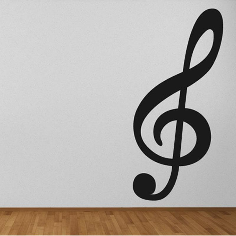 Treble Clef Musical Note Wall Decals Vinyl Wall Decor Sticker For ...