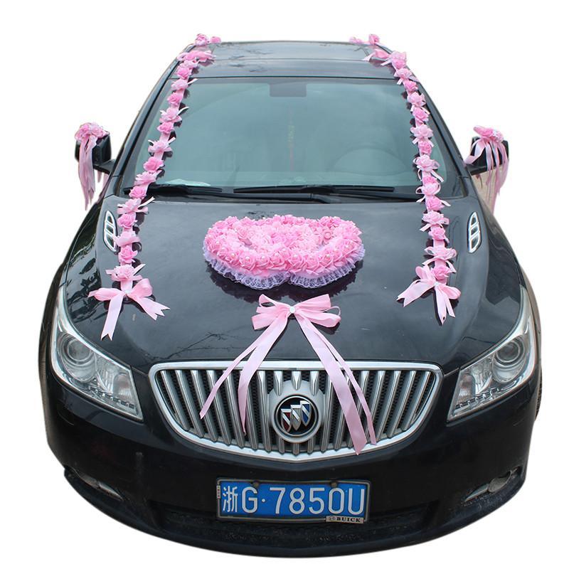 Grosshandel Genie Red Kunstliche Schaum Rose Blumen Hochzeit Auto