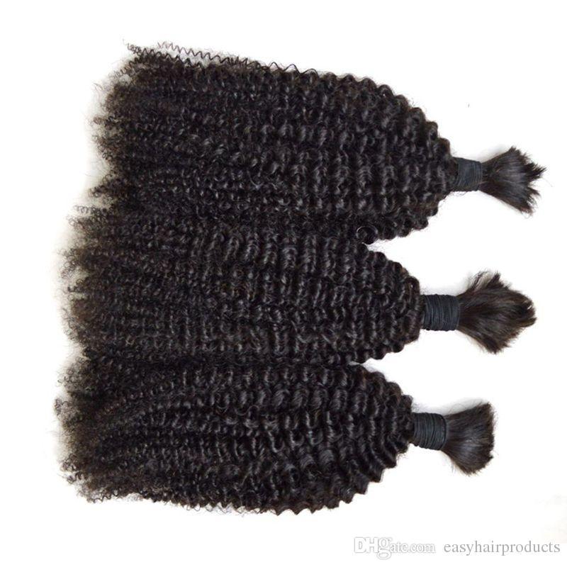 Bulk capelli umani intrecciare i capelli lotto peruviano vergine afro crespo ricci di alta qualità capelli all'ingrosso G-EASY