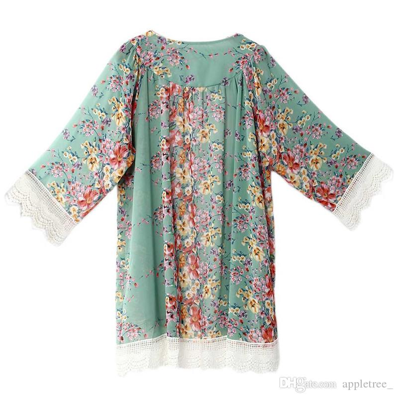 Chiffon coats for Women womens Cardigan Clothes woman Clothing Flower Shawl Cape vintage fashion Blouse ladies outerwear spring autumn Coat