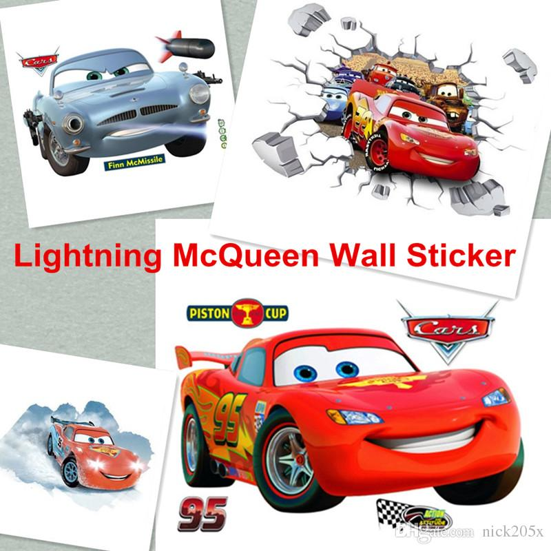Big Size 90cm*60cm Cars Lightning Mcqueen 3d Pvc Removable Broken Wall  Stickers For Kids Children Boys Room Home Decoration Poster Sticker Stickers  For ... Part 39