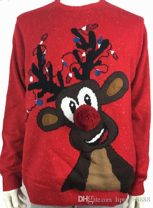 2019 Lights Up Rudolph The Red Nosed Reindeer Pattern Ugly