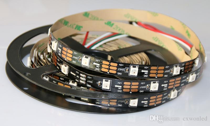 Strip 5m SK6812 Pixel flessibile LED PWB bianco impermeabile intelligente IC 5050 RGB SMD Full Digital DC5V Colore